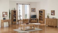 Devon Oak - Classic Modern Style Living Room Furniture Crafted From Light Oak