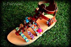 Boho Gladiator Sandals SPARTA'' by jvFairytales on Etsy