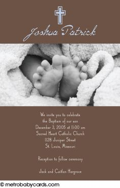 Photo Baptism/Christening Invitations :: Peaceful Blue Design