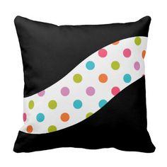#PolkaDot Print Throw #Pillows