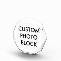 #photo - #Custom Personalized Photo Block Blank Template