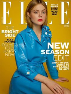 Elle Fanning by Thomas Whiteside for Elle UK February 2017 Covers