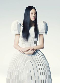 creative-lego-wedding-dress - i would be afraid my dress would break. better hope you have a tank top and shorts under