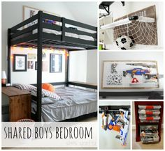 She's crafty: Shared Boys Bedroom- reveal
