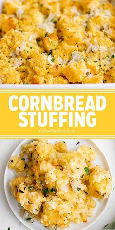 Southern Cornbread Stuffing is a moist and fluffy turkey dressing with chunks of sweet cornbread and veggies soaked in an herb infused broth. Try this for a side with your weeknight dinner or for your Thanksgiving feast!
