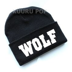 EXO Wolf Beanie  A must-have for all EXO fans, this beanie is perfect for keeping comfy and warm in style. It features 'WOLF' in bold white letters.  - One size only. - Beanies should fit everyone age 10 and up (including adults), but are not recommended for larger heads. - High-quality print.