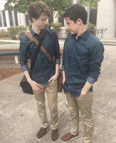 Dylan Minnette (Clay Jensen) and Devin Druid (Tyler Down) - 13 Reasons Why