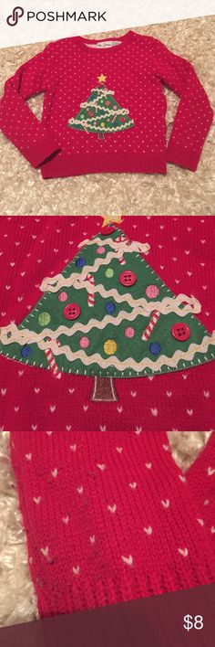 Christmas sweater size 5 VGUC Christmas sweater.  Brand is BT Kids.  Has some minor piling at the sleeves( see pic).  Size 5 BT kids Shirts & Tops Sweaters