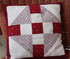 Patchwork Pillow Featuring Vintage Fabric