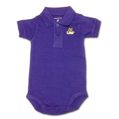 LSU Baby Clothing Golf Shirt Romper #LSU #Infant #Baby #Toddler #Babyfans