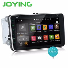 """Joying 8"""" Car Multimedia Player For VW Caddy 1024*600 HD Android 5.1 Car Radio Head Unit DVD Player Support Steering Wheel"""
