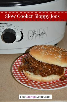This slow cooker sloppy joes recipe uses all your food storage along with whatever meat you want to use. Or substitute the meat for your favorite beans.