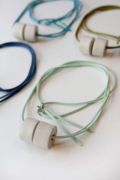 Image of CAST CONCRETE NECKLACE - NEW COLORS!
