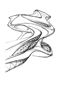 Architectural sketches ideas - Sketches of ideas. on Behance - Architecture Visualization, Architecture Drawings, Modern Architecture, Parametric Design, Concept Diagram, Conceptual Design, Kawaii Art, Zaha Hadid, Architectural Sketches