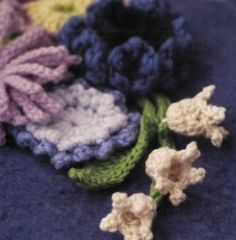 Lily of the Valley pattern from 100 Flowers to Knit & Crochet by Lesley Stanfield