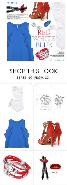 """""""Red/White/Blue"""" by yexyka ❤ liked on Polyvore featuring Urban Decay"""