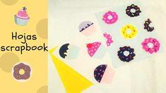 ♥ Hojas scrapbook caseras decoradas con pastelitos y donas muy fácil de ...