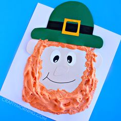 Make a fun puffy paint leprechaun craft for st patricks day. It's a great kids craft for them.