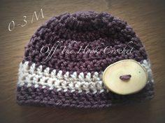 0-3m Crochet Hooks, Beanie, Hats, Crochet, Hat, Beanies