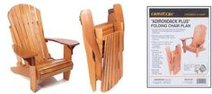 "Veritas® ""Adirondack Plus"" Folding Chair Plan - Gardening"