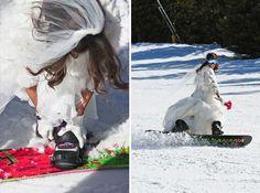 snowboard and wedding