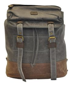 Look what I found on #zulily! J. Campbell Olive & Brown Backpack by J. Campbell #zulilyfinds