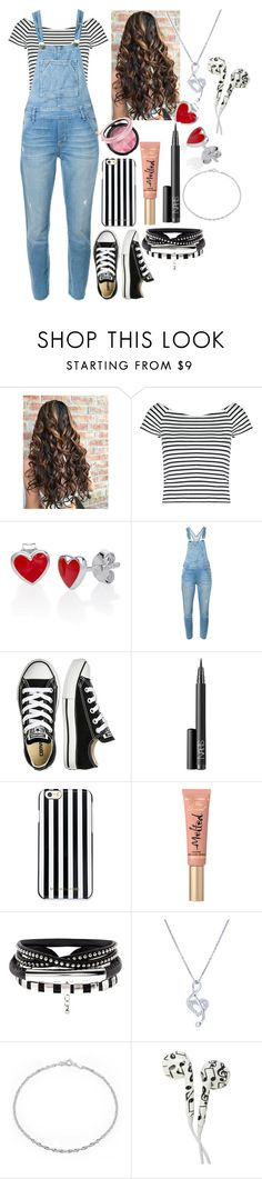"""""""hug me 🙈"""" by axelyamary ❤ liked on Polyvore featuring Lipsy, Current/Elliott, Converse, NARS Cosmetics, MICHAEL Michael Kors, Too Faced Cosmetics, BERRICLE and Bling Jewelry"""