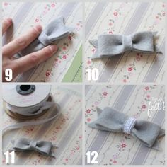 Vintage Inspired Felt Bows | I Heart Nap Time - How to Crafts, Tutorials, DIY, Homemaker