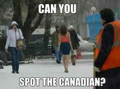 Spot the Canadian // funny pictures - funny photos - funny images - funny pics - funny quotes - Canada Jokes, Canada Funny, Canada Eh, Canadian Memes, Canadian Things, Canadian Humour, Canadian People, Bilbao, Funny Images