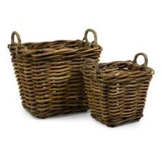 2 Storage Baskets by Gordon Companies, Inc. $327.00. Shipping Weight: 3.00 lbs. Brand Name: Gordon Companies, Inc Mfg#: 30713494. Please refer to SKU# ATR25775845 when you inquire.. This product may be prohibited inbound shipment to your destination.. Picture may wrongfully represent. Please read title and description thoroughly.. 2 storage baskets/woven/handles/large is 21.75''H x 24.5''W x 21''D/medium is 16.75''H x 18.25''W x 16.25''D/made of jahab rattan/you...