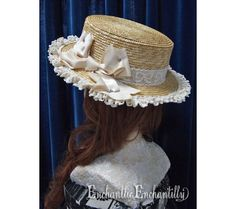 Ribbon Lace Straw Hat 55gbp