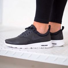 8365b23e53b Description  NIKE AIR MAX THEA PREMIUM in black white. Brand new with  shoebox (no lid). Price is firm.