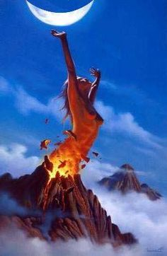 Pele the volcano goddess of Hawaii..she is fire but she is always creating and always expanding her land to create more life no matter the obstacle