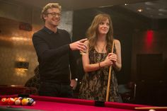 Simon Baker and Anna Faris, up for a game of pool?