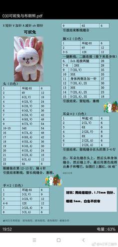 微博 Diy Crochet, Crochet Toys, Crochet Baby, Crochet Dolls Free Patterns, Amigurumi Patterns, Easter Bunny Crochet Pattern, Tiny Teddies, Handmade Soft Toys, Cat Coloring Page
