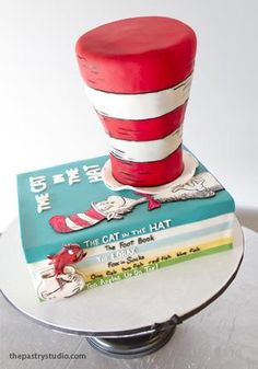 Cat in the Hat Party Cake @Diane Peacock This one is different!  Kinda cute, too!