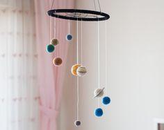 Solar System Nursery Mobile, Solar System Baby Mobile, Solar System Nursery…