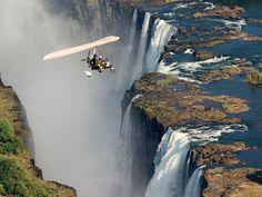 A microlight flight over the magnificent Victoria Falls.