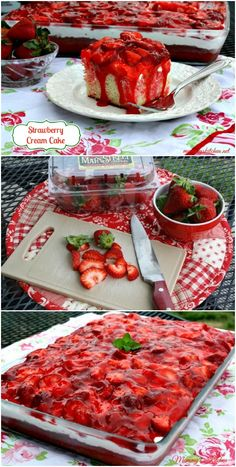Easy Strawberry Cream Cake.