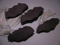 Custom Halloween Party Favor   Black Bat Shaped Plantable Gift Tags by Davita on Etsy, $14.00 www.davita.etsy.com