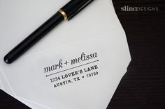 Custom SelfInking Return Address Stamp by cristinablanchard, $35.50