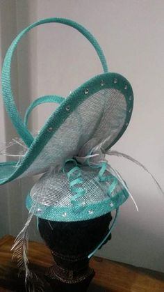 Facinator Hats, Sinamay Hats, Millinery Hats, Green Fascinator, African Hats, Tea Party Hats, Fascinator Hairstyles, Church Hats, Diy Hat
