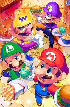 Super Smash Bros, Super Mario Bros, Video Game Art, Video Games, Thank You As Always, Nintendo, Mini Games, Order Up, My Works