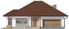 Elewacja frontowa projektu Kasandra 2 Outdoor Entertaining, House Plans, Sweet Home, House Design, Outdoor Decor, Germany, Houses, Entertainment, Home Decor