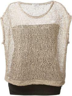 Brunello Cucinelli Open Knit Layered Top - Nugnes 1920 - Farfetch.com