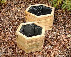 Hexagonal Planters Decorative Planters, Ceramic Planters, Decorative Aggregates, Bamboo Screening, Pea Gravel, Planter Boxes, Flower Beds, Garden Landscaping, Fence