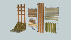 Vertical Bike Rack with Measurements - 3D Warehouse