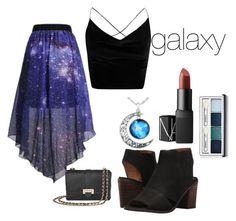 """""""galaxy"""" by cjflynn on Polyvore featuring WithChic, Franco Sarto, Clinique, NARS Cosmetics, Aspinal of London and Boohoo"""