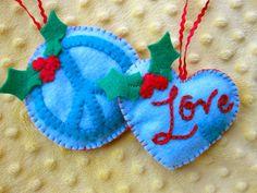 Peace & Love Felt Ornament Patterns