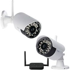 Lorex LW2232PK2B 2-Pack Wireless Security Cameras Indoor or Outdoor White